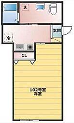 ベイルーム上町屋B棟[1階]の間取り