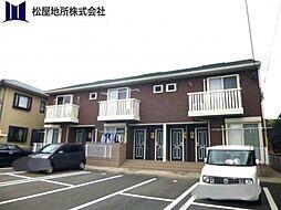 愛知県田原市田原町東馬洗の賃貸アパートの外観