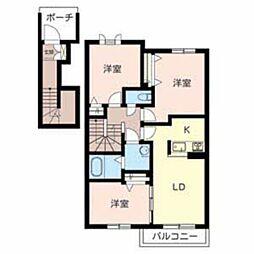 シャーメゾン桜ヶ丘[2階]の間取り