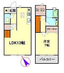[テラスハウス] 東京都八王子市みなみ野3丁目 の賃貸【/】の間取り