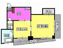第1廣田マンション[3階]の間取り