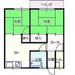 宮ノ前アパート[101号室]の間取り