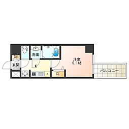 阪神なんば線 九条駅 徒歩2分の賃貸マンション 2階1Kの間取り