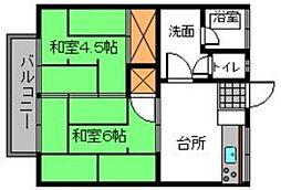 昭栄コーポ[6号室]の間取り