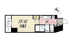 GRANPASEO麻布十番 グランパセオ麻布十番 12階1Kの間取り