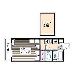 グラフィックメゾン樋井川[104号室]の間取り