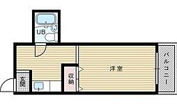 プルシャン西淡路[3階]の間取り