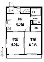 東京都板橋区南町の賃貸マンションの間取り