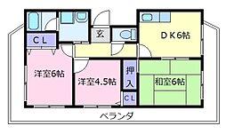 メゾンプレミール[6階]の間取り
