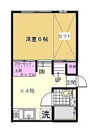フェスタ神田[1A号室]の間取り