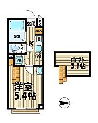 イーストフォート[2階]の間取り