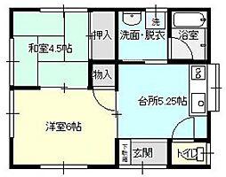 コーポ倉島[1階]の間取り
