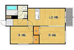 北海道札幌市西区二十四軒二条5丁目の賃貸アパートの間取り