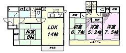 [一戸建] 東京都八王子市大和田町7丁目 の賃貸【東京都 / 八王子市】の間取り