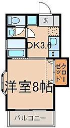 東京都立川市幸町6の賃貸アパートの間取り