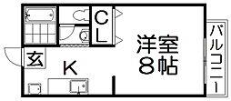 シングルハイツトランクウィル[2階]の間取り