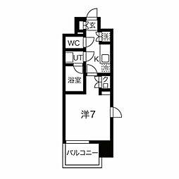 エルスタンザ仙台上杉 9階1Kの間取り