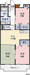 長野県千曲市大字上徳間の賃貸マンションの間取り