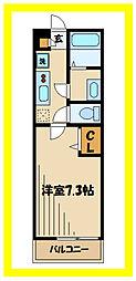 リブリ・川崎溝の口 2階1Kの間取り