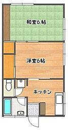 今村アパート[202号室]の間取り