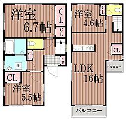 [一戸建] 東京都大田区南馬込1丁目 の賃貸【/】の間取り