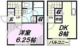 [テラスハウス] 埼玉県狭山市大字水野 の賃貸【/】の間取り