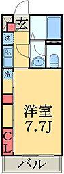 JR総武線 幕張駅 徒歩6分の賃貸アパート 2階1Kの間取り