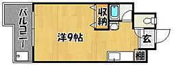 クリスタル西新[402号室]の間取り