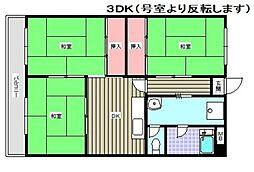 秋山ビル[301号室]の間取り