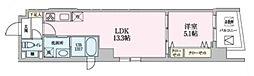 Luce 3階1LDKの間取り