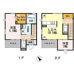 [テラスハウス] 神奈川県川崎市多摩区枡形4丁目 の賃貸【/】の間取り