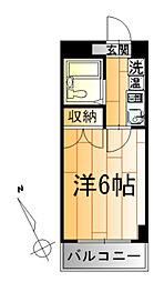 神奈川県川崎市川崎区日進町の賃貸マンションの間取り