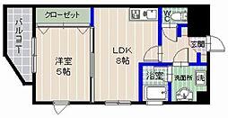 福岡県福岡市城南区干隈2丁目の賃貸マンションの間取り