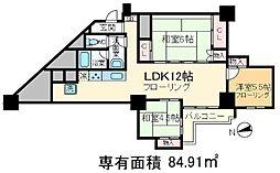 東十条マンション[9階]の間取り