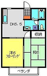 サンクレスト鶴ヶ峰[1階]の間取り