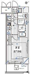 都営三田線 御成門駅 徒歩6分の賃貸マンション 4階1Kの間取り