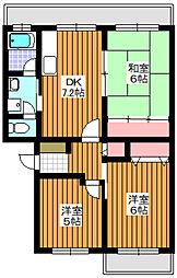 プラザサンタナカ2号館[5階]の間取り