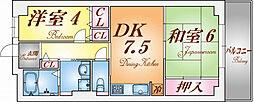 ファルコン日吉[4階]の間取り