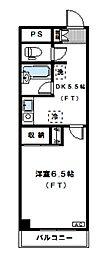 サンライズM[203号室]の間取り