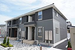 栃木県宇都宮市ゆいの杜6丁目の賃貸アパートの外観