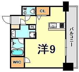 JR東海道・山陽本線 甲子園口駅 徒歩7分の賃貸マンション 2階ワンルームの間取り
