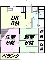 エステート松木[303号室]の間取り
