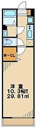 多摩都市モノレール 大塚・帝京大学駅 徒歩11分の賃貸マンション 2階1Kの間取り