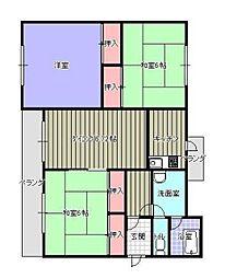 第2志免東福ビル 4階3LDKの間取り