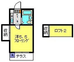 フラリッシュ鶴見[104号室]の間取り