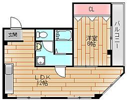 第2ランスロットハイツ[4階]の間取り