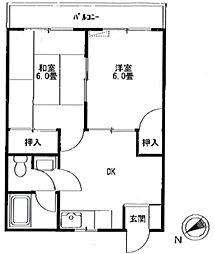 フルールメゾン[2階]の間取り