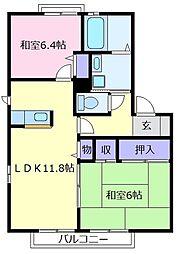 グリーン2[2階]の間取り
