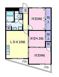メゾン柴垣[3階]の間取り