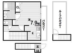 エクセルシオ須磨[2階]の間取り